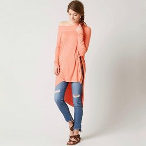 Free People We The Free Grapevine Long Tunic Top